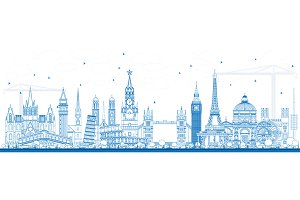 Outline Famous Landmarks in Europe.