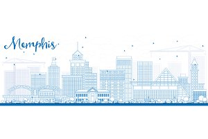Outline Memphis Skyline