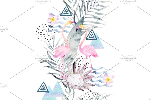 Watercolor Summer Pattern