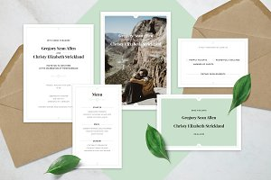 Clean Wedding Invitation Suite