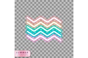 neon waves symbol