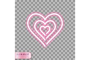 neon heart symbol