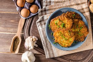 Potato pancakes fried