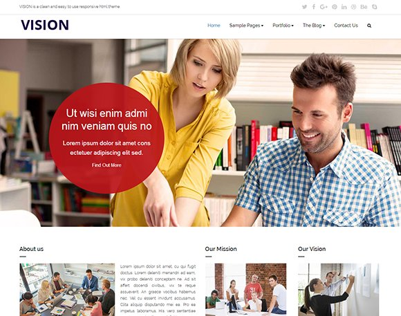 VISION Responsive HTML Template