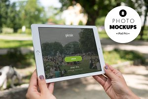 iPad Pro at the park-8 photo mockups
