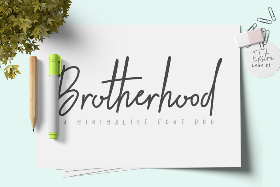 Brotherhood Font Duo + Ekstra ~ Sans Serif Fonts ~ Creative