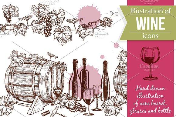 Wine Sketch Illustrations
