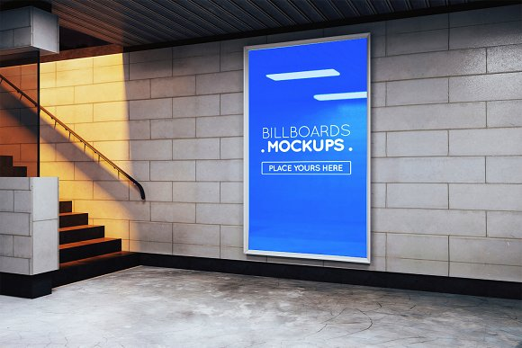 Subway Billboards Mockups #88