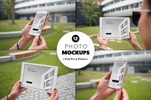 iPad Pro & iPhone 6 - 12 mockups