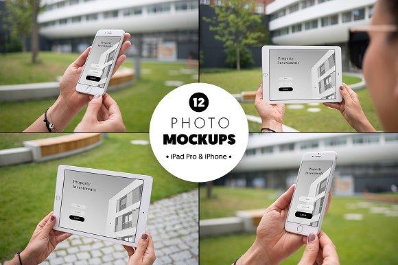 Download iPad Pro & iPhone 6 - 12 mockups