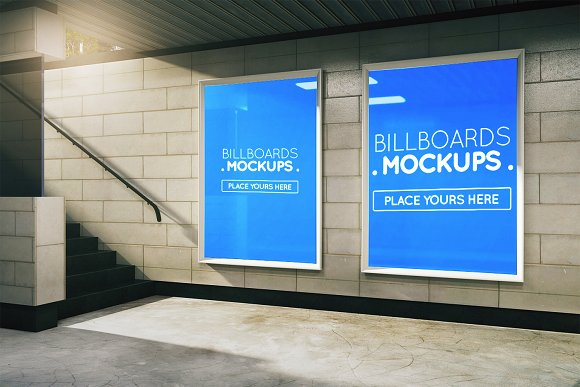 Subway Billboards Mockups #89