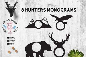 Hunters Monogram Cut File