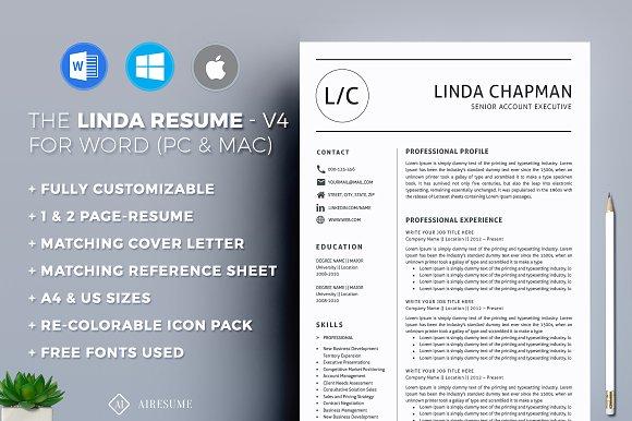 Cfa Resume Excel Professional Resumecv Template  Resume Templates  Creative Market Free Resume Template Word Word with Biochemistry Resume  Readwritethink Resume Generator Pdf