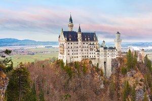 Fairytale Neuschwanstein Castle, Bavaria, Germany