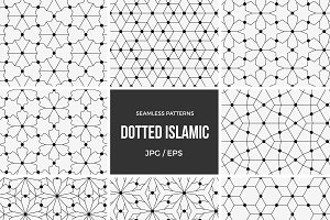 Dotted Islamic seamless patterns