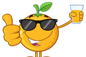 Orange Fruit With Sunglasses