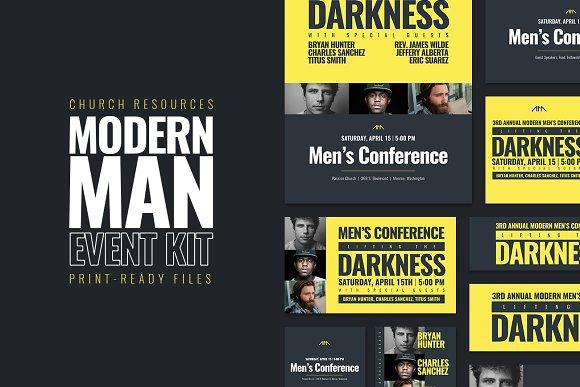 Modern Man Event Kit-Graphicriver中文最全的素材分享平台