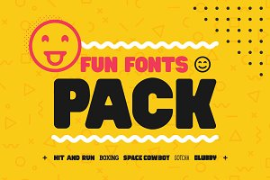 Fun Fonts Pack! - Bundle!