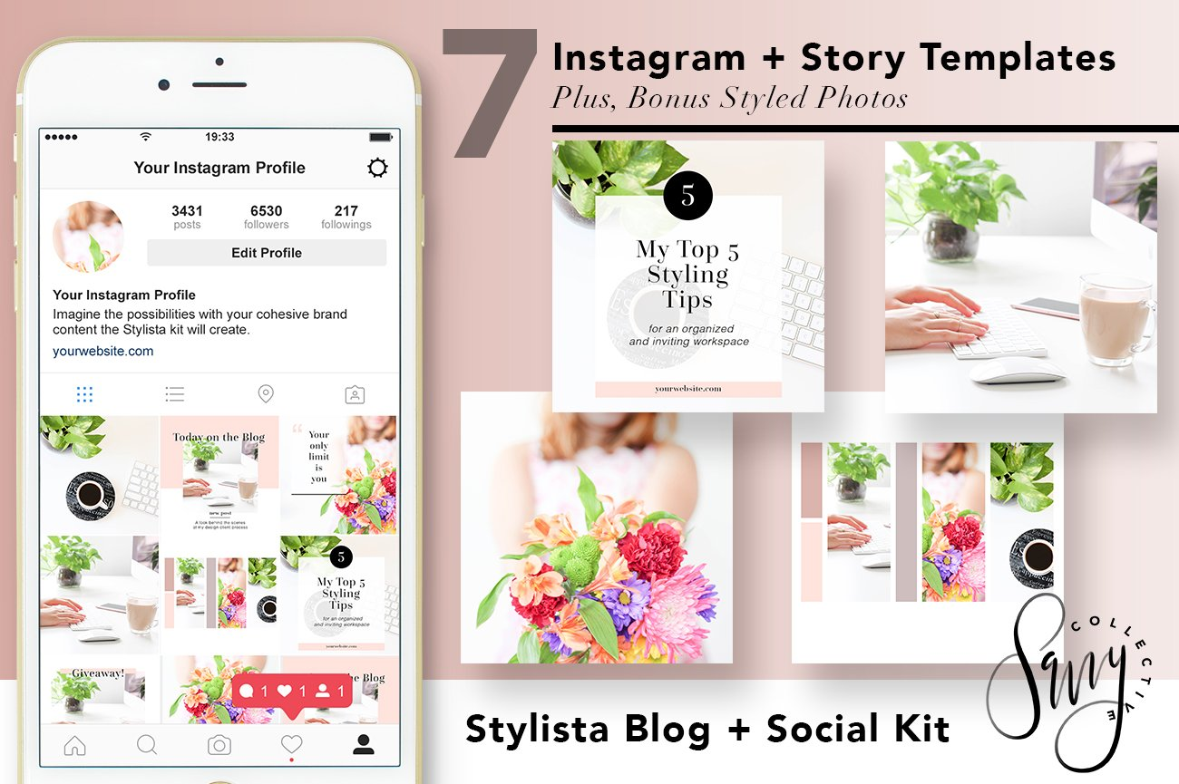 instagram story templates stylista instagram templates creative market. Black Bedroom Furniture Sets. Home Design Ideas