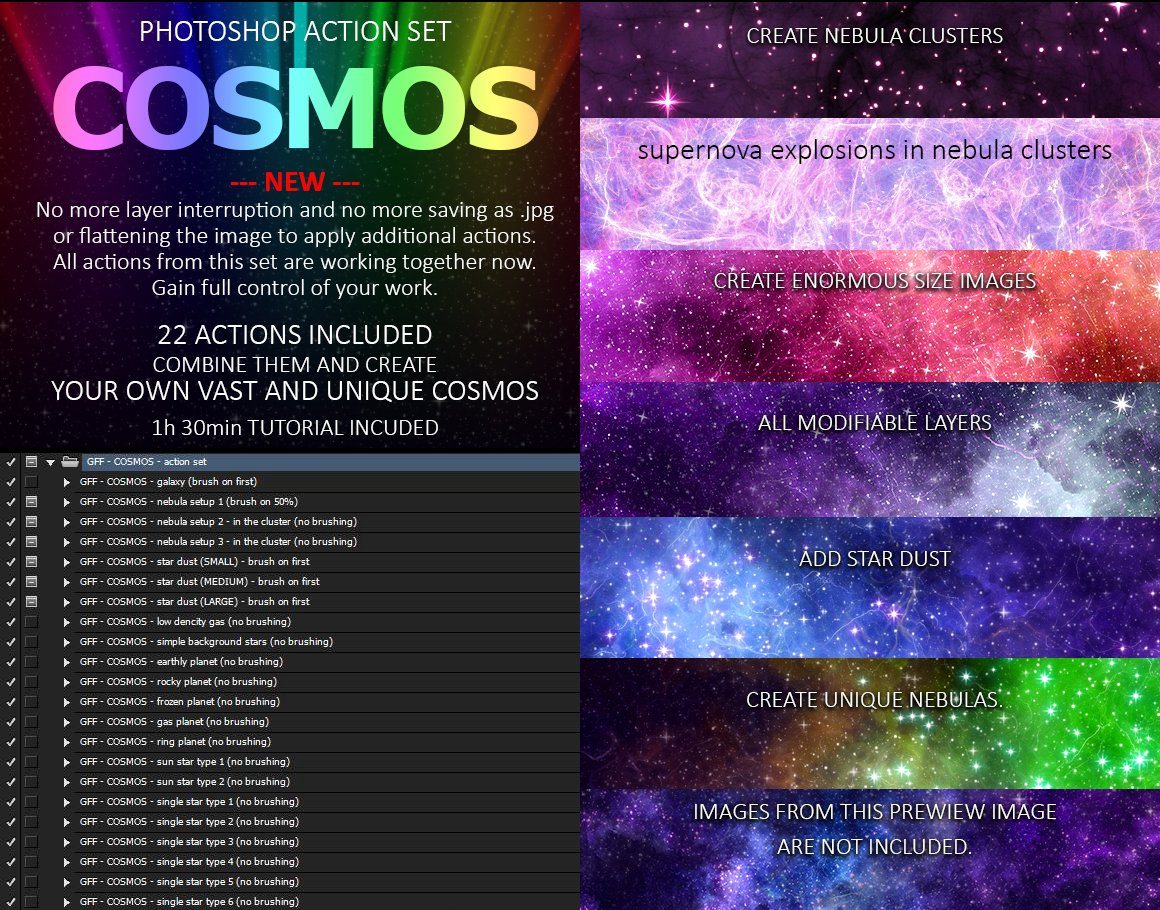 COSMOS Photoshop Action Set ~ Photoshop Add-Ons ~ Creative