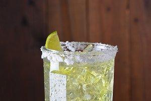 Margarita in Glass with Salt