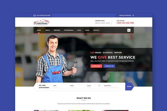 Car Dinal Car Wash HTML Template