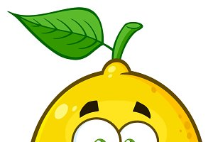 Happy Yellow Lemon Fruit