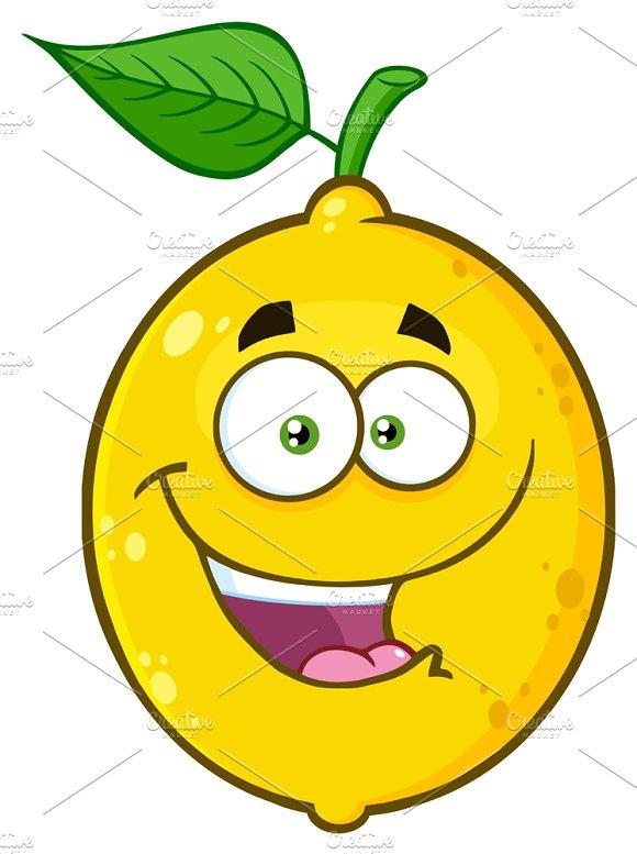 Happy Yellow Lemon Fruit