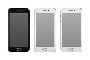 Vector realistic smartphone set.