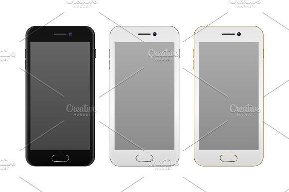 Vector Realistic Smartphone Set