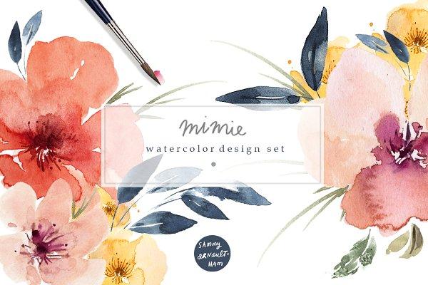 Mimie Watercolour Design Set