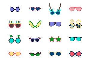 Vector sunglasses set.
