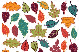 Autumn Leaves Clipart & Vectors