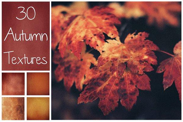 30 Autumn Textures