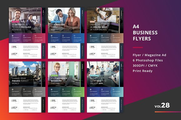 Corporate Flyer Templates 6PSD #28