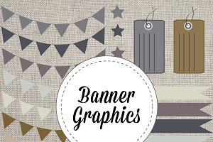 Banners Tags & Ribbons Vector & PNG
