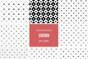 Seamless crown pattern background