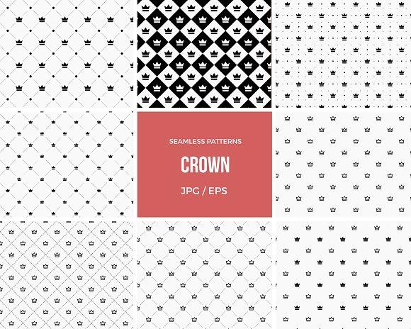 Seamless Crown Pattern Background