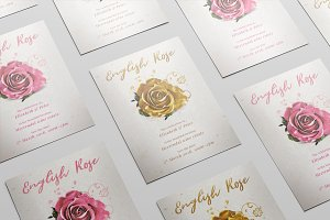 English Rose Photoshop Template
