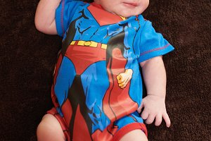 Newborn in costume outfit