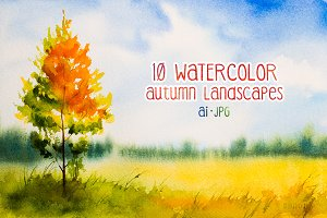 Autumn landscapes set 2