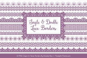 Amethyst Lace Clipart Borders