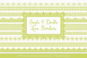 Bamboo Lace Clipart Borders