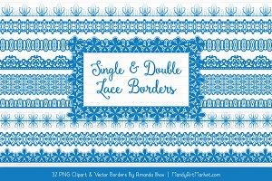 Blue Lace Clipart Borders