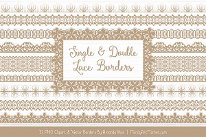 Champagne Lace Clipart Borders