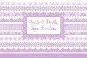 Lavender Lace Clipart Borders