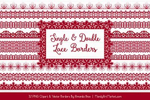Ruby Lace Clipart Borders