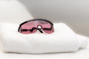Towel and Protective Glasses