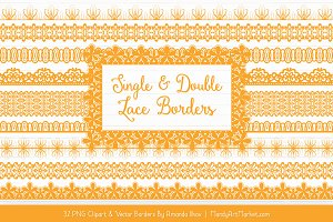 Sunshine Lace Clipart Borders