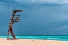 On the beach in Spain
